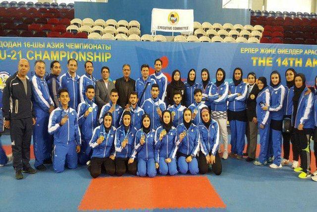 پیش تازی کاراته کاران ایران در جدول رده بندی مدالی قزاقستان