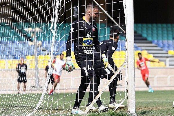 رکورد دروازه بان دوم تیم پرسپولیس در لیگ برتر فوتبال شکسته شد