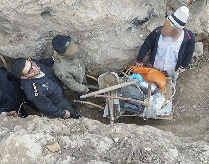 دستگیری حفاران غیرمجاز آثار تاریخی در کلاله