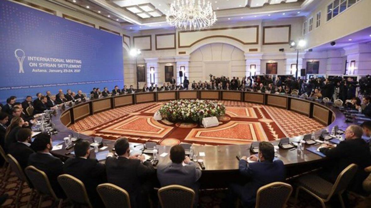 مذاکرات آستانه با حضور وزرای خارجه ایران، روسیه و ترکیه به صورت ویدئو کنفرانس برگزار می گردد