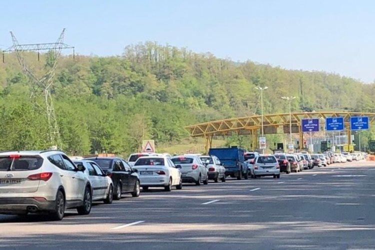 ترافیک نیمه سنگین در هراز و کندوان