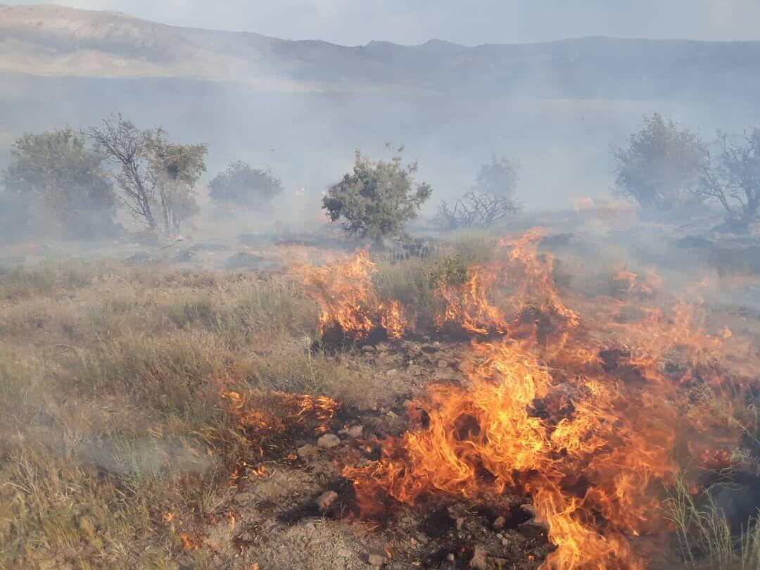 خبرنگاران آتش سوزی در مرتع های شهرستان سمیرم مهار شد