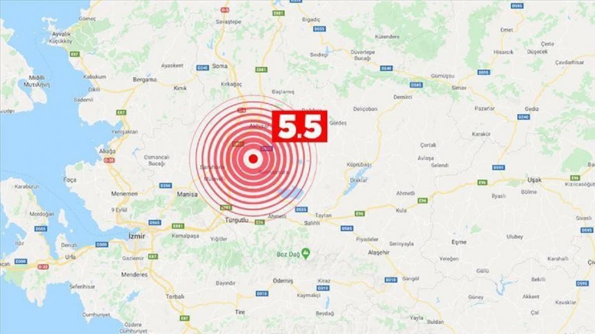 وقوع زلزله 5.5 ریشتری در غرب ترکیه