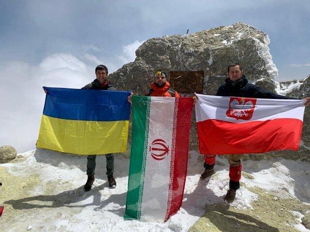صعود دیپلمات های لهستانی و اوکراینی به قله دماوند