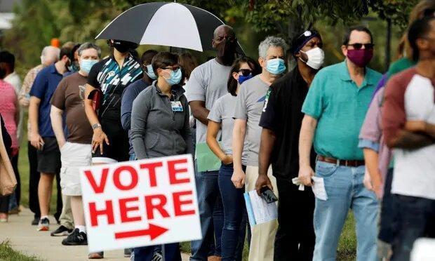 انتخابات آمریکا رکورد بالاترین مشارکت از 1908 را رقم می زند