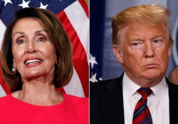 پلوسی: موی ترامپ را می گیرم و از کاخ سفید بیرونش می کنم
