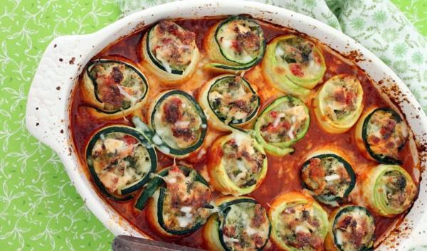 رول کدو گوشتی یک پیش غذای ایتالیایی خوشمزه