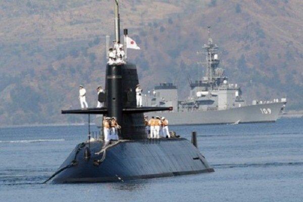 برخورد زیردریایی نظامی ژاپن با یک کشتی تجاری