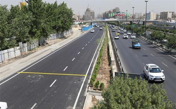 ترافیک روان در معابر شهر تهران