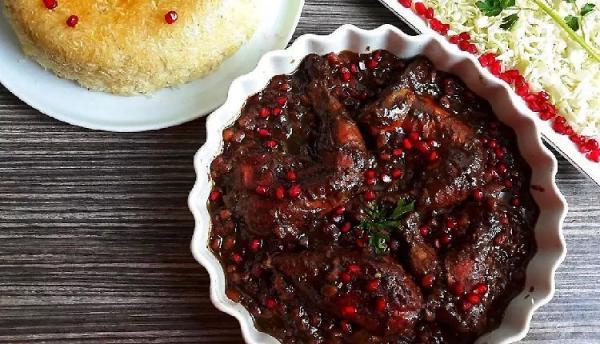 طرز تهیه انواع خورش انار شمالی لذیذ و بسیار خوشمزه