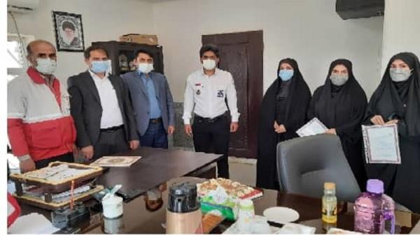 تجلیل از کارکنان و امدادگران جمعیت هلال احمر هفتکل